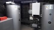 Chaufferie-pour-9-appartements-avec-pompe-à-chaleur-géothermique-forage-de-600m-verticaux-et-chaudière-gaz-en-appoint-pour-leau-chaude-sanitaire